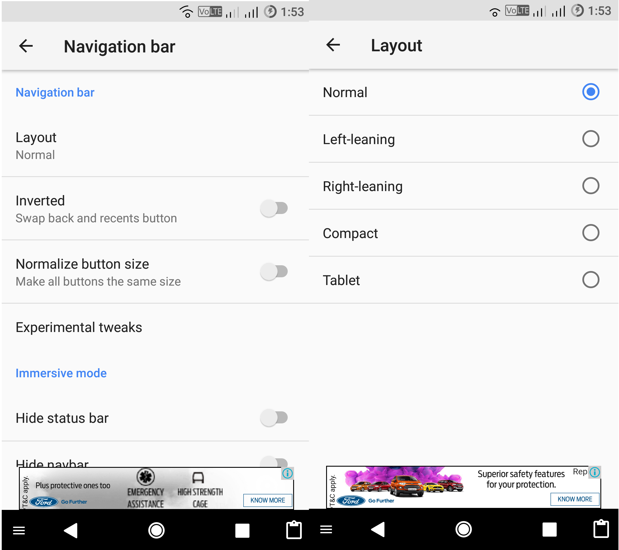 How To Enable Android O 8 0 Oreo Navigation Bar On Any