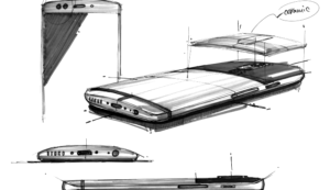 One Plus 5 Sketches Shows 4 Cameras And Ceramic Panel On The Back(Amazing!)