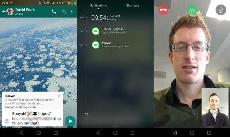 whatsapp video call on android